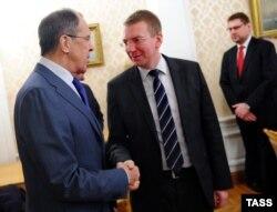 Сергей Лавров и Эдгар Ринкевич. Москва, ноябрь 2013