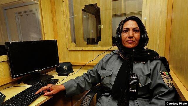 Helmand police officer Lieutenant Nigar in an undated courtesy photo.