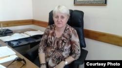Лариса Харькова в бытность председателем Конфедерации независимых профсоюзов Казахстана.