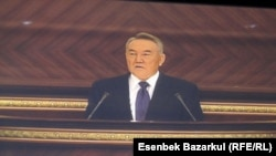 President Nursultan Nazarbaev tells the nation he's willing to stay on as president as long as health allows.