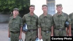 Новобранцы в российской армии