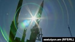 Ракеты на 102-й российской военной базе в Гюмри (архив)