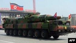 Հյուսիսային Կորեա - Հրթիռի ցուցադրություն մայրաքաղաք Փհենյանում զորահանդեսի ժամանակ, արխիվ