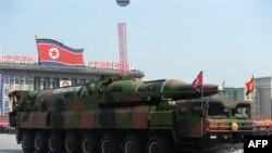 یک رژه نظامی در کره شمالی در سال گذشته