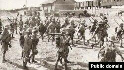 İngilis ordusu Bakı ətrafında. 1918