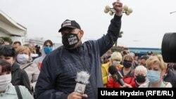 Акция протеста в Комаровке против задержаний оппозиционеров, Беларусь, 31 мая 2020 года.