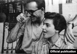 Reynold Thiel la București cu Stela Baculinschi în 1947