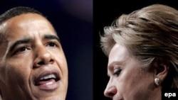 Бара Обама та Гіларі Клінтон