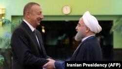 Իրանի նախագահ Հասան Ռոհանի և Ադրբեջանի նախագահ Իլհամ Ալիև, արխիվ