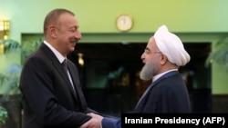 Ադրբեջանի և Իրանի նախագահները Թեհրանում, 1-ը նոյեմբերի, 2017թ.