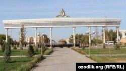 Центр города Ургенч в Хорезмской области.