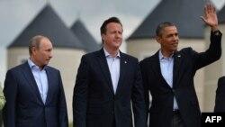 """Владимир Путин на последнем для российского президента саммите """"Большой восьмерки"""" в Северной Ирландии в июне 2013 года."""