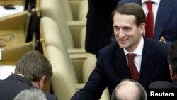 Спикерот на руската државна Дума, Сергеј Наришкин.