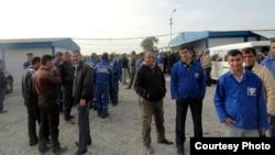 Бастующие работники Todini, Сальян, 15 октября 2011