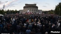 Yerevanda mitinq - 10 oktyabr 2014