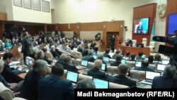 Пленарное заседание в мажилисе парламента Казахстана в Астане. Иллюстративное фото.