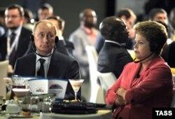 Владимир Путин и президент Бразилии Дилма Русефф