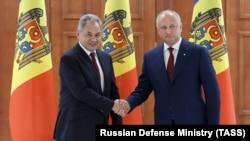 Serghei Șoigu și Igor Dodon, la Chișinău