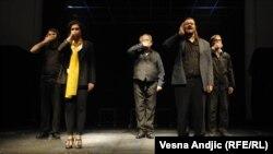 "Detalj iz predstave ""Let iznad kosovskog pozorišta"" u CZKD-u"