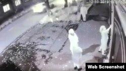 Скриншот записи камеры видеонаблюдения