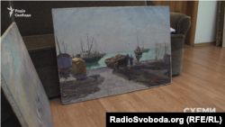 Оригінали картин Глущенка «У риболовецькому колгоспі» та «Вітрила на морі»