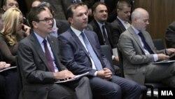 Министерот за внатрешни работи Оливер Спасовски и амбасадорот на САД во Македонија, Џес Бејли.