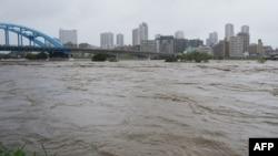Typhoon Hagibis hit the Tokyo