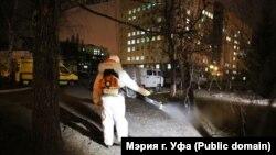 Дезинфекция улиц в Уфе