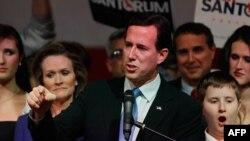 Рик Санторум, претендент в кандидаты в президенты США от Республиканской партии. Штат Огайо, 6 марта 2012 года.