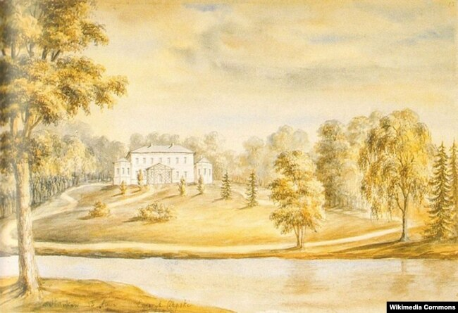 Станькаўскі палац на малюнку Напалеона Орды