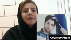 فرزانه انصاریفر با عکسی از برادر خود، فرزاد که در اعتراضات آبان ماه کشته شد