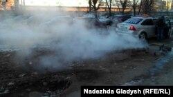 Пар из-под земли - обычное дело в Ижевске зимой 2016 года