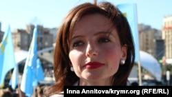Мар'яна Беца на акції у Києві, 26 серпня 2016 року
