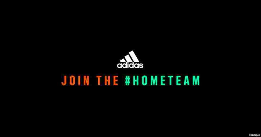 Виробник одягу Adidas свого логотипу не розділяв, проте додав до нього серію віртуальних заходів під хештегом #домашнякоманда (#hometeam), в яких люди показують, наприклад, як продовжують займатися спортом вдома попри карантин.