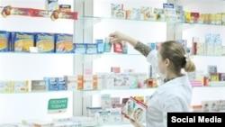 Одна из аптек в Узбекистане.