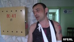 Украинский шахтер Александр Гуров после освобождения из плена сепаратистов
