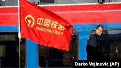 Pamje nga puna për ndërtimin e hekurudhës Beograd - Budapest që financohet nga Kina