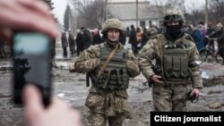 Украинские военные в Дебальцеве