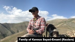 Kavous Seyed-Emami, an Iranian-Canadian professor, is pictured in Ammameh, Iran in2017. He died in custody a few days after his arrest in February 2018.