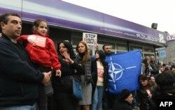 Під час акції на підтримку «Руставі-2», Тбілісі, 22 жовтня 2015 року