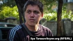 Крымско-татарский активист Ренат Параламов. Симферополь, 15 сентября 2017 года.