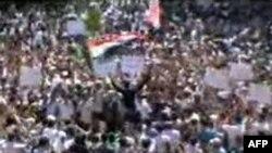 Демонстрация протеста в пригороде Дамаска