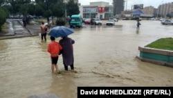 Наводнение в Рустави, июнь 2018 г.
