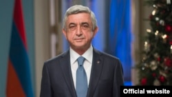 Armenia -- President Serzh Sarkisian delivers his New Year's address to the nation in Yerevan, 31Dec2017.