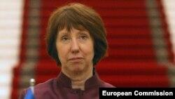 Еуропа Одағының сыртқы саясат және қауіпсіздік бойынша жоғарғы комиссары Кэтрин Эштон. Душанбе, 29 қараша 2012 жыл.