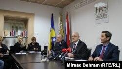 Bariša Čolak, Božo Ljubić i Ivan Vukoja na pres-konferenciji, Mostar