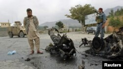 File photo of a suicide attack in Parwan province.