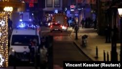 Polis hadisə yerinin yaxınlığında