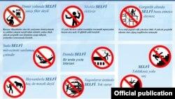 Azerbaijan -- dangerous selfie positions, infographics