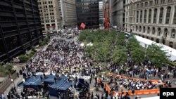 Komemoracija žrtvama terorističkog napada na Svjetski trgovinski centar, Zuccotti Park, New York, 11. septembar 2008